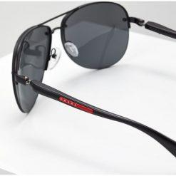 Prada Linea Rossa Okulary przeciwsłoneczne black. Czarne okulary przeciwsłoneczne męskie aviatory Prada Linea Rossa. Za 839,00 zł.
