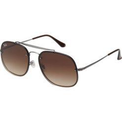 RayBan Okulary przeciwsłoneczne gunmetal. Szare okulary przeciwsłoneczne damskie lenonki marki Ray-Ban, z materiału. Za 509,00 zł.