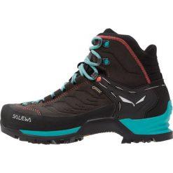 Salewa MTN TRAINER MID GTX Buty trekkingowe magnet/viridian green. Szare buty trekkingowe damskie Salewa, z gumy. W wyprzedaży za 659,25 zł.
