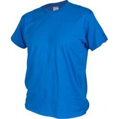 Brugi Koszulka męska 4CB9 401 niebieska r. M. Białe koszulki sportowe męskie marki Adidas, l, z jersey, do piłki nożnej. Za 36,72 zł.