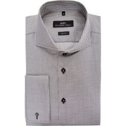 Koszula IGNAZIO slim 15-03-22-K. Szare koszule męskie na spinki marki Giacomo Conti, m, w kratkę, z bawełny, z włoskim kołnierzykiem, z długim rękawem. Za 199,00 zł.