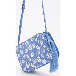 Torebki klasyczne damskie: Torebka w kwiaty – Niebieski