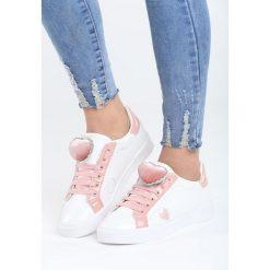 Białe Buty Sportowe Strange Love. Pomarańczowe buty sportowe damskie marki Born2be, z materiału. Za 89,99 zł.