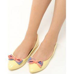 Baleriny damskie: Żółte Balerinki Piccolo