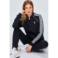 Adidas Originals - Bluza. Szare bluzy rozpinane damskie adidas Originals, z bawełny, bez kaptura. W wyprzedaży za 219,90 zł.