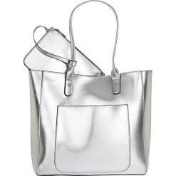 Shopper bag damskie: Torba shopper metaliczna bonprix srebrny kolor