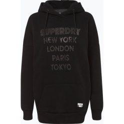Superdry - Damska bluza nierozpinana, czarny. Szare bluzy z kapturem damskie marki Superdry, l, z nadrukiem, z bawełny, z okrągłym kołnierzem. Za 349,95 zł.