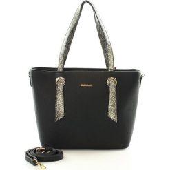 Kuferki damskie: Stylowa torebka kuferek czarny