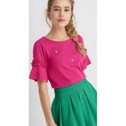 Odzież damska: T-Shirt ze zdobieniem