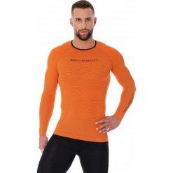 Bejsbolówki męskie: Brubeck Bluza męska 3D Run PRO z długim rękawem pomarańczowa r. XL (LS13000)