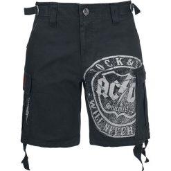 AC/DC EMP Signature Collection Krótkie spodenki damskie czarny. Czarne szorty damskie z printem AC/DC. Za 79,90 zł.