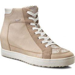 Sneakersy GEOX - D Amaranth H.A D52S9A 0CLTN C0662 Beż/Stazony Biały. Brązowe sneakersy damskie marki Geox, z lakierowanej skóry. W wyprzedaży za 279,00 zł.