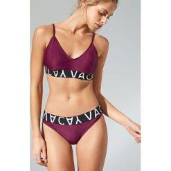 Stroje dwuczęściowe damskie: Dół od bikini z ozdobną taśmą – Fioletowy