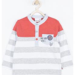 Koszulka. Szare t-shirty chłopięce z długim rękawem FIND YOUR WINGS, z aplikacjami, z bawełny. Za 45,90 zł.
