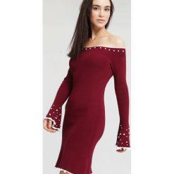 Bordowa Sukienka Burgund. Czerwone sukienki dzianinowe marki other, na jesień, l. Za 89,99 zł.