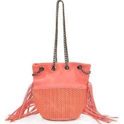 """Torebki klasyczne damskie: Skórzana torebka """"Lauren"""" w kolorze pomarańczowym – 17 x 20 x 30 cm"""