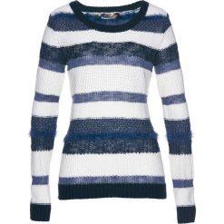 Sweter bonprix biel wełny - ciemnoniebiesko-indygo. Białe swetry klasyczne damskie bonprix, z wełny. Za 79,99 zł.