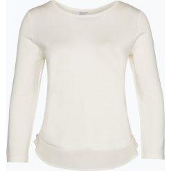 T-shirty damskie: Margittes – Damska koszulka z długim rękawem z jedwabnym obszyciem, beżowy