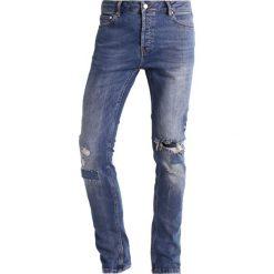 Topman Jeans Skinny Fit blue. Niebieskie rurki męskie marki Topman. W wyprzedaży za 161,85 zł.
