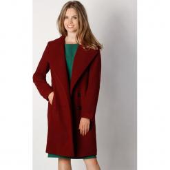 Płaszcz w kolorze bordowym. Zielone płaszcze damskie wełniane marki Last Past Now, xs, w paski. W wyprzedaży za 319,95 zł.