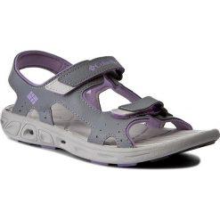 Sandały COLUMBIA - Youth Techsun Vent BY4566 Tradewinds Grey/White Violet. Szare sandały dziewczęce Columbia, ze skóry ekologicznej. W wyprzedaży za 159,00 zł.