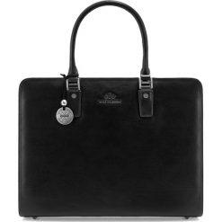 Torba na laptopa 35-4-052-1. Czarne torby na laptopa marki Wittchen, w paski, zdobione. Za 1299,00 zł.