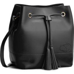 Torebka CREOLE - K10239 Czarny. Czarne torebki worki Creole, ze skóry, bez dodatków. W wyprzedaży za 199,00 zł.