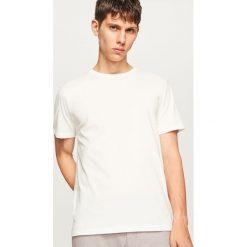 T-shirty męskie: Gładki t-shirt – Kremowy