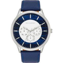 """Biżuteria i zegarki: Zegarek kwarcowy """"Skive"""" w kolorze granatowo-srebrno-białym"""