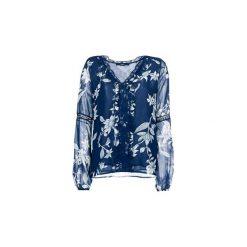 Bluzki Guess  VANESA. Niebieskie bluzki damskie Guess, m, z aplikacjami. Za 349,00 zł.