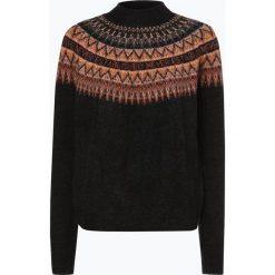 Review - Sweter damski, szary. Szare swetry klasyczne damskie marki Review, l, z tkaniny, z okrągłym kołnierzem. Za 179,95 zł.