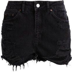 Bermudy damskie: Topshop Petite MOM  Szorty jeansowe washedblack
