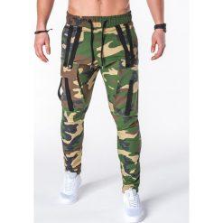 SPODNIE MĘSKIE JOGGERY P671 - MORO. Szare joggery męskie Ombre Clothing, moro. Za 89,00 zł.