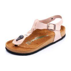 Sandały damskie: Skórzane sandały w kolorze beżowym