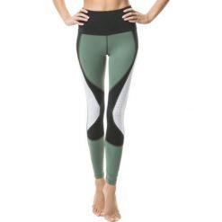 Spodnie damskie: Cardio Bunny 2E sky DARK JUNGLE legginsy zielono-białe r. S