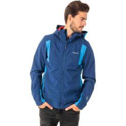 Kurtki sportowe męskie: Hi-tec Kurtka męska Softshell Fano Blue print/Victoria blue/High risk red r. XL