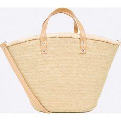 Answear - Torebka Stripes Vibes. Szare torebki klasyczne damskie ANSWEAR, w paski, z materiału, duże. W wyprzedaży za 59,90 zł.
