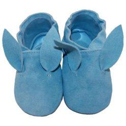 Babice Kapcie Chłopięce Bunny 16.5 Niebieske. Niebieskie kapcie chłopięce marki BABICE, ze skóry. Za 83,00 zł.
