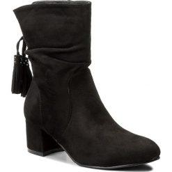 Botki JENNY FAIRY - WS17001-1 Czarny. Czarne buty zimowe damskie Jenny Fairy, z materiału. Za 119,99 zł.