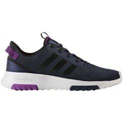 Adidas Buty Cloudfoam Racer Tr W Collegiate Navy/Core Black/Shock Purple 41.3. Czarne buty do fitnessu damskie marki Adidas, z kauczuku. W wyprzedaży za 239,00 zł.