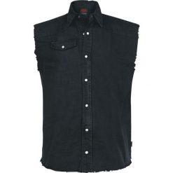 Spiral Solid Black Koszula bez rękawów - Workershirt czarny. Czarne koszule męskie na spinki marki Spiral, m, bez rękawów. Za 114,90 zł.