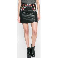 Answear - Spódnica Blossom Mood. Szare minispódniczki marki ANSWEAR, l, z materiału, proste. W wyprzedaży za 59,90 zł.