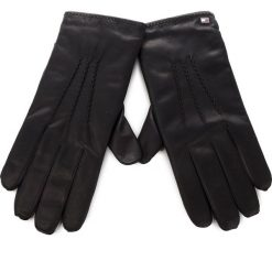 Rękawiczki Męskie TOMMY HILFIGER - Basic Leather Gloves AM0AM04147  002. Czarne rękawiczki męskie TOMMY HILFIGER, ze skóry. Za 299,00 zł.
