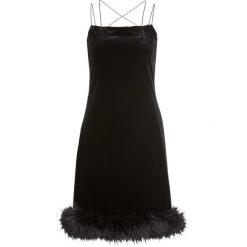 Sukienka ze sztucznym futerkiem bonprix czarny. Białe sukienki balowe marki numoco, do pracy, l, z nadrukiem, z elastanu, z kopertowym dekoltem, z długim rękawem, kopertowe. Za 124,99 zł.