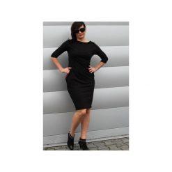 Sukienka sportowa z kieszeniami. Czarne sukienki letnie marki Szarymary, m, z bawełny, sportowe, ołówkowe. Za 129,00 zł.