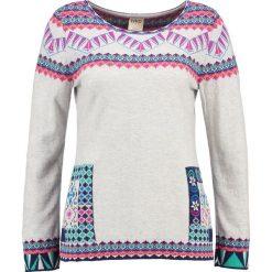 Swetry klasyczne damskie: Ivko INTARSIA Sweter stone