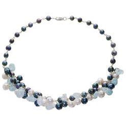 Naszyjniki damskie: Naszyjnik z perłami i kryształami – (D)45 cm