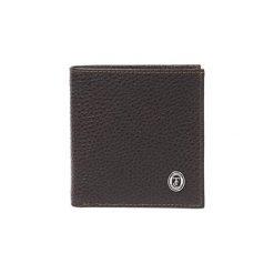 Portfele męskie: Skórzany portfel w kolorze brązowym – (D)10 x (S)10 cm