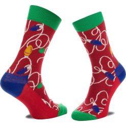 Skarpety Wysokie Unisex HAPPY SOCKS - HLI01-4000 Czerwony Kolorowy. Czerwone skarpetki damskie Happy Socks, w kolorowe wzory, z bawełny. Za 34,90 zł.