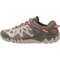 Merrell ALL OUT BLAZE AERO Obuwie hikingowe beige/khaki. Brązowe buty trekkingowe damskie Merrell, z gumy, outdoorowe. W wyprzedaży za 383,20 zł.